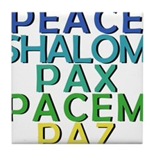 Peace Shirt and Products Tile Coaster