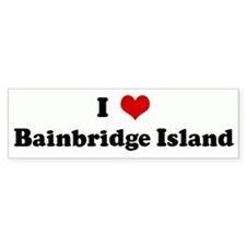 I Love Bainbridge Island Bumper Bumper Sticker