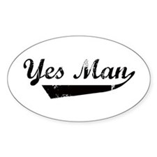 Yes Man Oval Decal