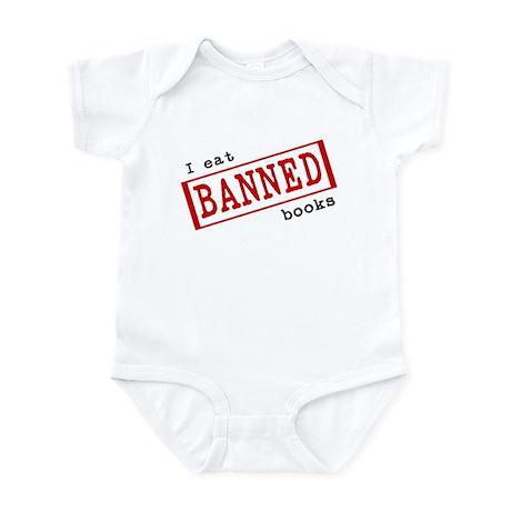 """""""I eat banned books"""" Infant Bodysuit"""