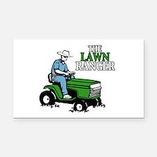 The Lawn Ranger Rectangle Car Magnet