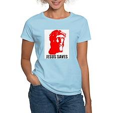 JESUS SAVES Women's Pink T-Shirt
