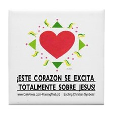 Espanol! ¡Excita Corazon! Tile Coaster