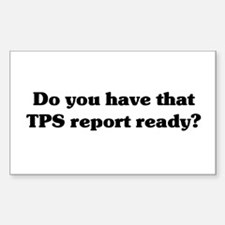 TPS Report Rectangle Decal