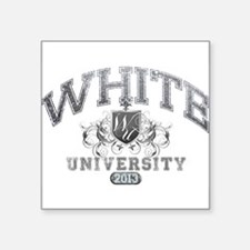 White last name University Class of 2013 Sticker