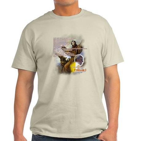 Prayer of St. Francis: Light T-Shirt