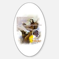 Prayer of St. Francis: Sticker (Oval)