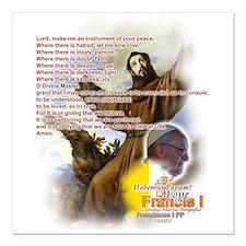 "Prayer of St. Francis: Square Car Magnet 3"" x 3"""