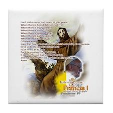 Prayer of St. Francis: Tile Coaster