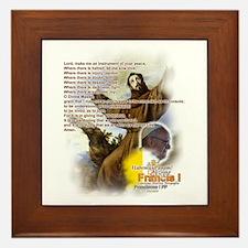 Prayer of St. Francis: Framed Tile