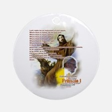 Prayer of St. Francis: Ornament (Round)