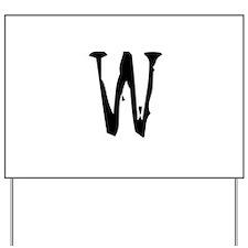 Acoustic Monogram W Yard Sign