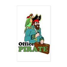 Office Pirate Rectangle Decal