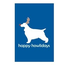 "English Cocker ""Happy Howlida Postcards (Package o"