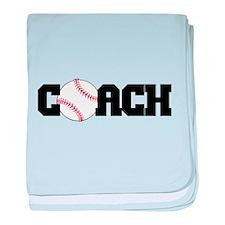 Baseball Coach baby blanket