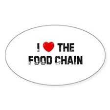 I * the Food Chain Oval Decal