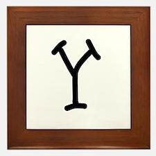 Bookworm Monogram Y Framed Tile