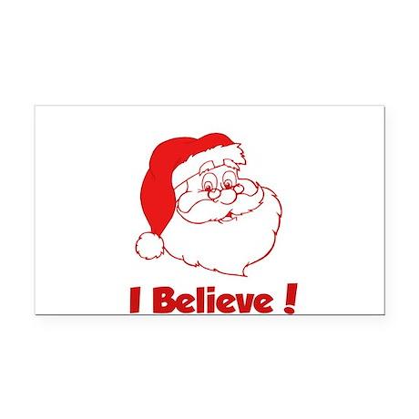 I Believe- Santa Rectangle Car Magnet