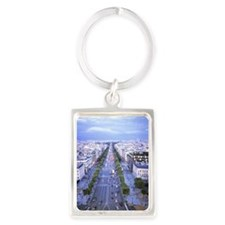 View over Champs Elysees Portrait Keychain