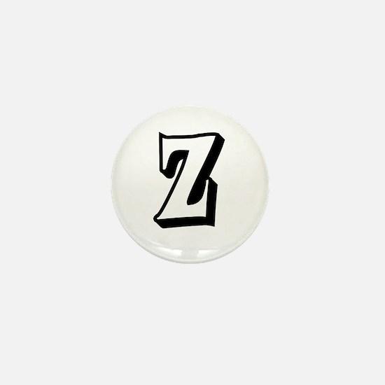Action Monogram Z Mini Button