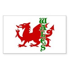 Wales Rectangle Decal
