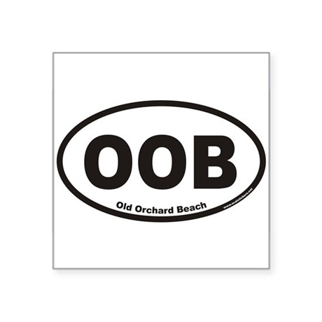 Old Orchard Beach OOB Euro Oval Sticker