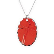 Acupuncture needles Necklace Oval Charm