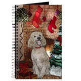Poodle christmas Journals & Spiral Notebooks