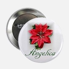 """Poinsettia Angelica 2.25"""" Button (10 pack)"""