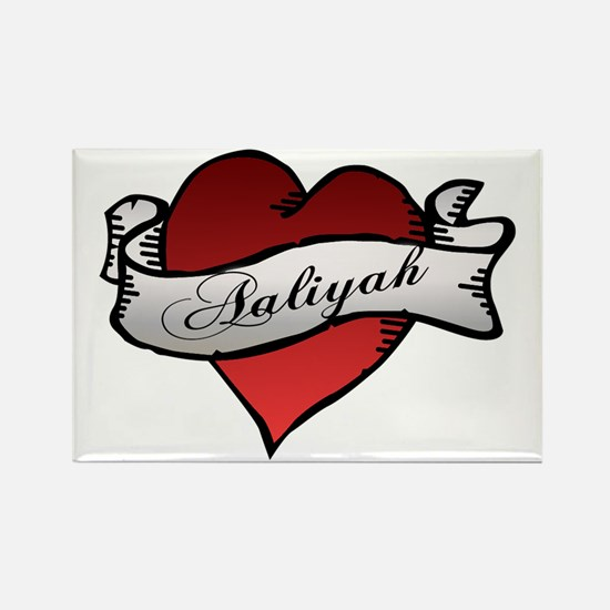 Aaliyah Heart Tattoo Rectangle Magnet