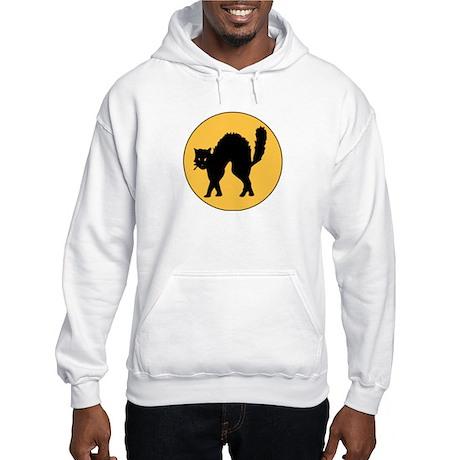 Haloween Black Cat Hooded Sweatshirt