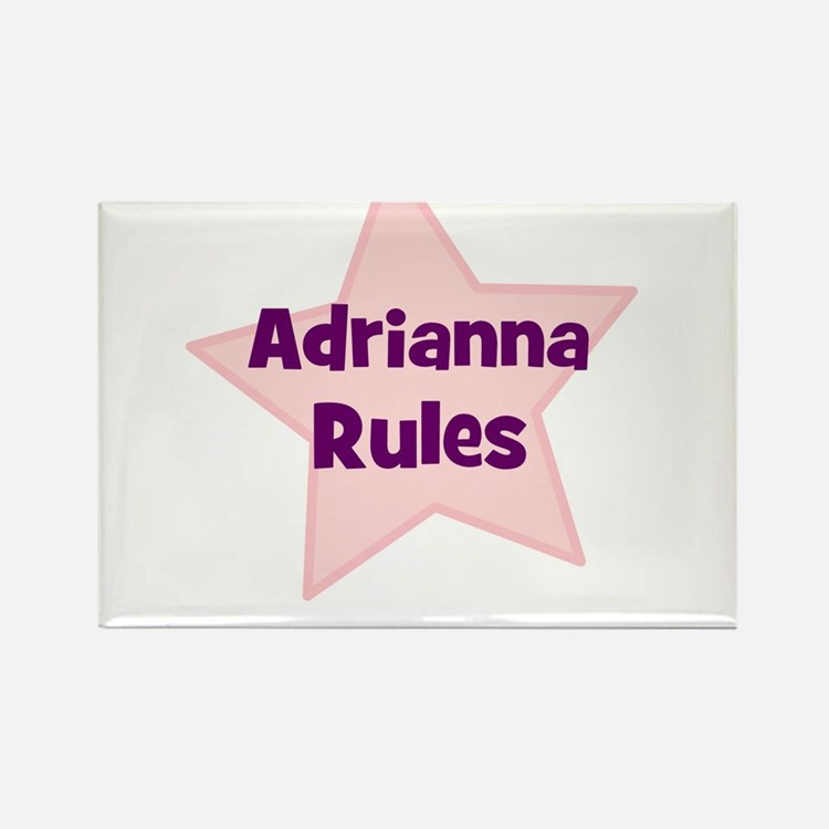 Adrianna Rules Rectangle Magnet