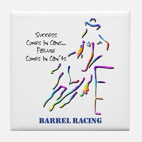 Barrel Racing Tile Coaster