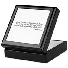 Romans 1:8 Keepsake Box