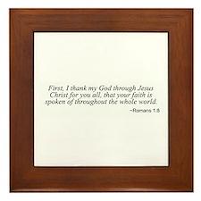 Romans 1:8 Framed Tile
