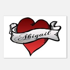 Abigail Heart Tattoo Postcards (Package of 8)