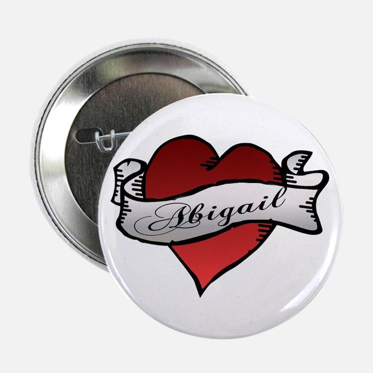 "Abigail Heart Tattoo 2.25"" Button (10 pack)"