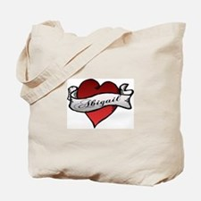 Abigail Heart Tattoo Tote Bag