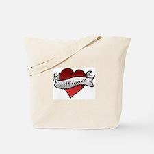 Abigail Heart Tattoo Tote Bag