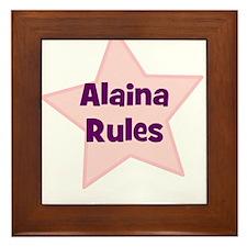Alaina Rules Framed Tile