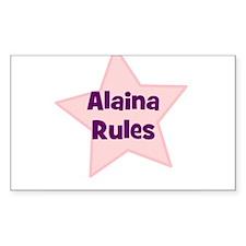 Alaina Rules Rectangle Decal