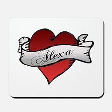 Alexa Heart tattoo Mousepad