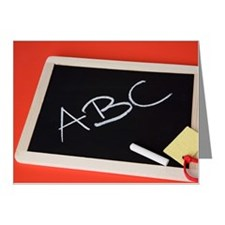A chalkboard with 'ABC' writ Note Cards (Pk of 10)