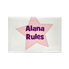 Alana Rules Rectangle Magnet