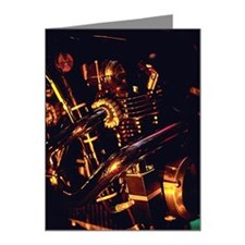 Car engine Note Cards (Pk of 20)