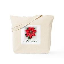 Poinsettia Aimee Tote Bag