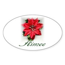 Poinsettia Aimee Oval Decal