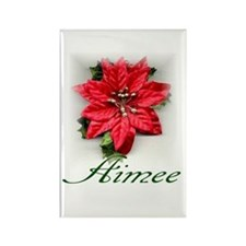 Poinsettia Aimee Rectangle Magnet