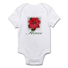 Poinsettia Aimee Infant Bodysuit