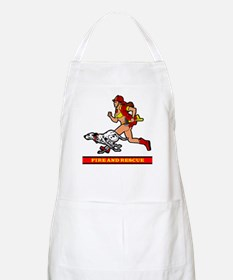 FIREFIGHTER GIRL 2 BBQ Apron